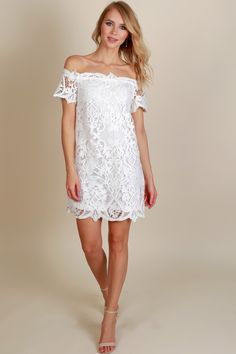 Lace Galore Dress Off White