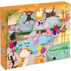 janod voelpuzzel - een dag in de dierentuin (20st) 2774 | ilovespeelgoed.nl