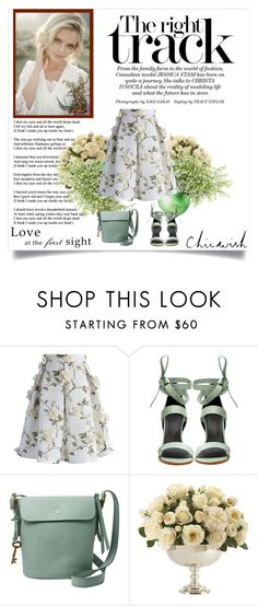 """""""Chicwish"""" by marinadusanic ❤ liked on Polyvore featuring Chicwish, TIBI, FOSSIL, Ethan Allen and chicwish"""