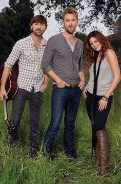 Lady Antebellum~Charles Kelley, Hillary Scott and Dave Haywood.
