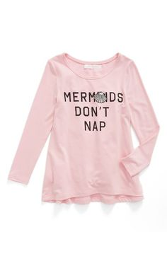 Truly Me 'Mermaids Don't Nap' Graphic Tee (Toddler Girls & Little Girls) available at #Nordstrom