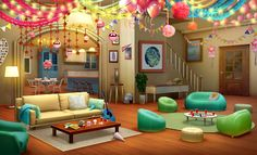 Episode Interactive Backgrounds, Episode Backgrounds, Love Backgrounds, Akatsuki, Small Apartment Bedrooms, Anime Places, Anime Poses Reference, Anime Scenery Wallpaper, Party Background
