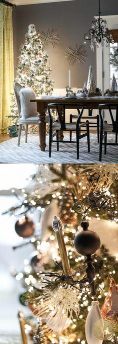 Christmas Tree with over 6,000 mini LED Lights! WOW! | Holiday Home Tour via inspiredbycharm.com
