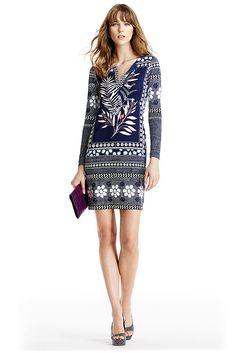 Reina Long Silk Jersey Tunic Dress