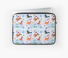Puppies and Kittens Laptop Sleeve #dogs #puppies #cats #kittens #pets