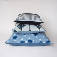 jo waterhouse - big + spotty denim cushion