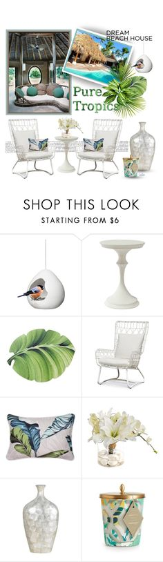 """Paradise Found !!"" by kateo ❤ liked on Polyvore featuring interior, interiors, interior design, home, home decor, interior decorating, Sagaform, Palecek, John-Richard and Cal Lighting"
