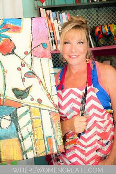 Tami Figliola is a passionate artist that not only sells her work, but teaches art classes and throws painting parties. Read more about her journey to success in the summer 2016 issue of Where Women Create.