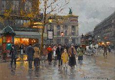 Edouard Leon Cortes AU CAFE DE LA PAIX, PARIS