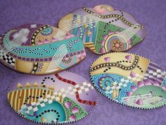 January 2013!  Three buttons and a barrette by dixie103, via Flickr