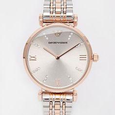 Emporio Armani Ganni T-Bar Two Tone Watch