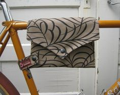 bike bag  TopTube VeloPocket  taupe upholstery by HamboneDesigns, $40.00