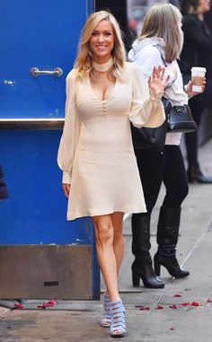 Kristin Cavallari from The Big Picture: Today's Hot Pics The Balancing in Heels author says hello on her way into Good Morning America in NYC.