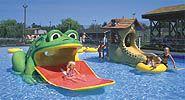 Kiddie Slides and Wading Pool at Carousel Water & Fun Park.