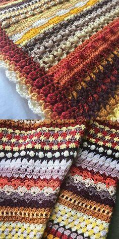 Crochet Afghans Ideas Spicier Life Blanket Free Crochet Pattern for Intermediate Learners - Crochet Afghans, Afghan Crochet Patterns, Crochet Stitches, Knitting Patterns, Crochet Blankets, Scrap Yarn Crochet, Knit Or Crochet, Free Crochet, Crochet For Beginners Blanket