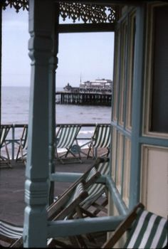 View of the a West Pier from the Palace Pier, Brighton