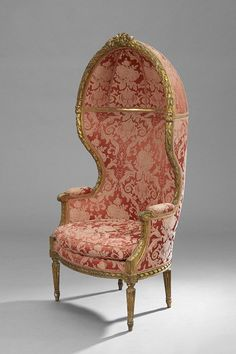 Louis XVI-Style Giltwood Porter's Chair : Lot 109