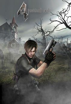 View an image titled 'Leon in Cemetary Art' in our Resident Evil 4 art gallery featuring official character designs, concept art, and promo pictures. Resident Evil Girl, Leon S Kennedy, Evil Art, Fictional World, Video Game Art, Video Games, Creative Photos, Art Gallery, Survival