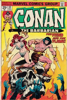 conan the barbarian comic book covers marvel | 1974-76 Conan the Barbarian #38-65 Marvel Comics (Featuring Gil Kane ...