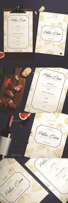 Elegant Restaurant Menu — Photoshop PSD #multipurpose #kmzvr • Available here ➝ https://graphicriver.net/item/elegant-restaurant-menu/21098545?ref=pxcr