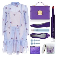 """Lilac + Sky Blue"" by cherieaustin ❤ liked on Polyvore featuring Rubeus, Sergio Rossi, By Terry, SONOMA Goods for Life, Rebecca de Ravenel and My Kit Co."