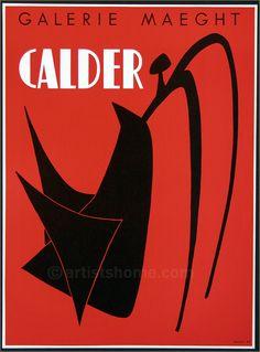 Alexander Calder: Galerie Maeght 1959, Stabile noir, Affiche Mourlo - Recherche Google