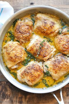 Lemon Butter Chicken - Easy crisp-tender chicken with the creamy lemon butter sauce