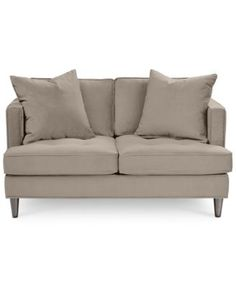 Kenton Fabric LoveseatCustom Colors Living rooms