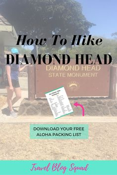 How To Hike Diamond Head, Oahu. An easy morning or afternoon hike a short distance from Waikiki. This comprehensive guide details opening hours, how to get there and tips for a safe trek. Click here to read more and download your free Ultimate Aloha Packing List!