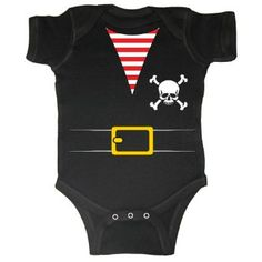 Amazon.com: Pirates & Anchors - Pirate - Baby Infant Short Sleeve Bodysuit Creeper (Assorted Colors & Sizes): Clothing