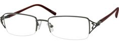 Metal Alloy / Stainless Steel Half Rim Frame with Spring Hinges