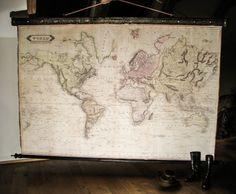 Beautiful, large world map c... from Zmaps on Wanelo