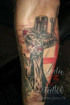 #tattoo #knight #templar #religious #shield #sword #armour #studio13tattoomo