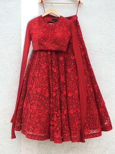 Description: It has 1 Piece of Blouse, 1 Piece of Lehenga and 1 Piece of Dupatta -:Fabric:- Blouse: Georgette Lehenga: Georgette Dupatta: Georgette -:Length:- B Red Lehenga, Lehenga Choli, Anarkali, Bollywood Lehenga, Indian Bridal Outfits, Indian Designer Outfits, Designer Bridal Lehenga, Lehnga Dress, Indian Gowns Dresses