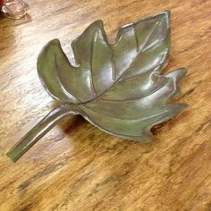 Fall Leaf Decor. Great with a candle.