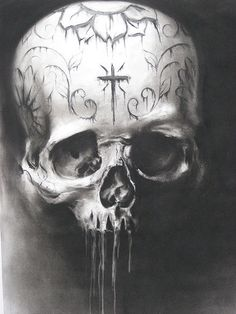 Stained Skull by Carlos Torres...