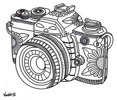 Wenchkin's coloring pages - Dia de los Camera