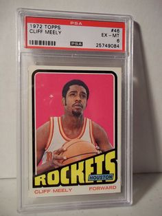 1972 Topps Cliff Meely PSA EX-MT 6 Basketball Card #46 NBA Collectible…