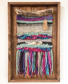 MADE TO ORDER. Handmade woven wall hanging. Made in Chile with natural wool, burlap and driftwood from Lago Puyehue. Includes the frame. Measures 17.7x27.5 inches. It takes me three weeks to do it and three more weeks to arrive to you. Contact me if you have any questions