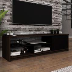 Creative Modern TV Wall Decor Idea for Living Room Design - Home Decor Interior Tv Stand Modern Design, Tv Stand Designs, Tv Wall Design, Partition Design, Tv Cabinet Design, Booth Design, Banner Design, Tv Wanddekor, Tv Wall Decor