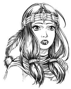 Indian maiden by Karafactory.deviantart.com on @DeviantArt