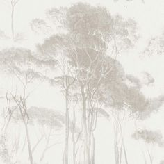 Woodlands Wallpaper - Brown White 37651-4