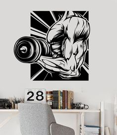 Vinyl Wall Decal Gym Fitness Motivation Bodybuilding Sports Stickers Murals (ig3632)