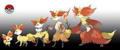 In-Progress Pokemon Evolutions | #653.5 - As Fennekin age the air that vents... Pokemon Fake, Pokemon Fusion Art, Pokemon Fan Art, Cool Pokemon, Pokemon Breeds, Pokemon Starters, Pokemon Universe, Original Pokemon, Charizard