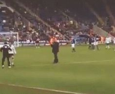 Harry ran up to Niall to give him a hug after he scored