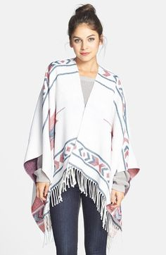 really great sweater poncho for summer nights and FALL