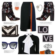 """""""Fall Mix"""" by stacey-lynne on Polyvore featuring Alice + Olivia, Chanel, Isabel Marant, Givenchy, Christopher Kane, Grey Ant, Philip Stein, Adina Reyter, Balmain and Herbivore"""