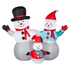 4-ft Internal Light Snowman Christmas Inflatable