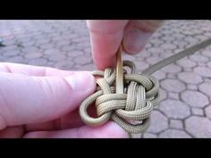 ▶ Single strand Star knot part 2 - YouTube