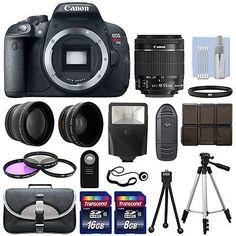 34534 photo-video Canon T5i / 700D Digital SLR Camera + 3 Lens Kit 18-55mm STM Lens + 24GB Bundle  BUY IT NOW ONLY  $549.99 Canon T5i / 700D Digital SLR Camera + 3 Lens Kit 18-55mm STM Lens + 24GB Bundle...